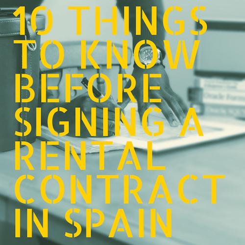 10 dingen die je moet weten voordat je een Spaans huurcontract ondertekent